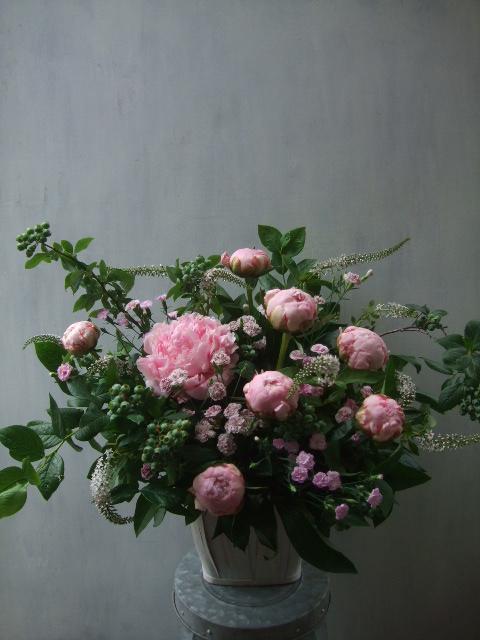 オークリーフ(バラ・芍薬・トルコキキョウ)_f0049672_1359790.jpg