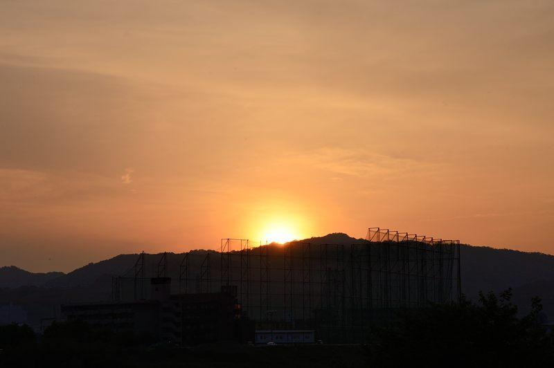桂川夕景_f0032011_18343268.jpg