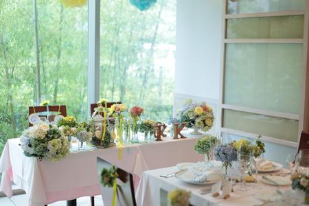 初夏の装花 ひまわりと未来 レストランヒロミチさまへ_a0042928_22241358.jpg