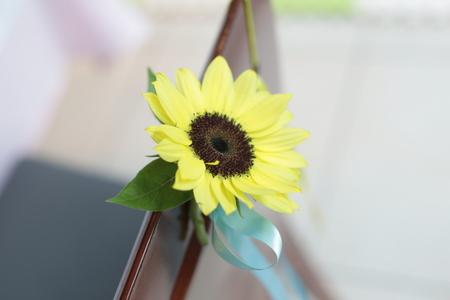 初夏の装花 ひまわりと未来 レストランヒロミチさまへ_a0042928_22254768.jpg