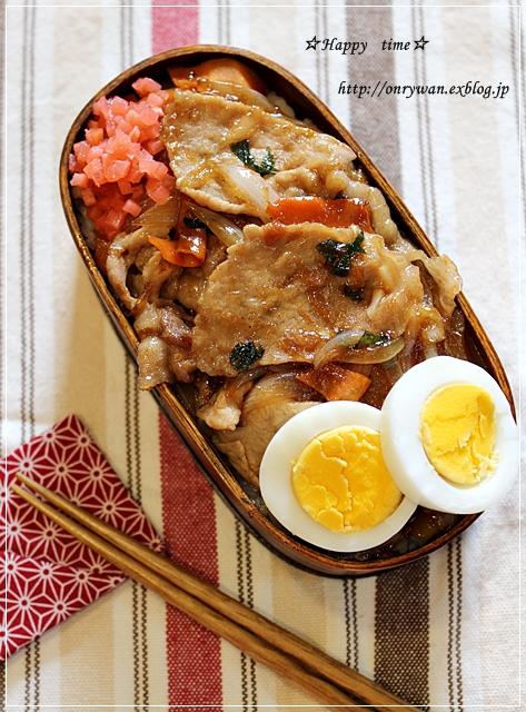 豚丼弁当ととろけるプリン♪_f0348032_18503669.jpg