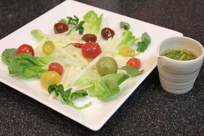 青パパイヤのサラダと、豆腐のドライカレー_a0223786_21473910.jpg