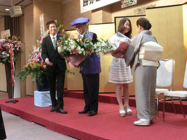ますます元気な77歳! 勝亦正人氏の喜寿を祝う会_f0141310_724941.jpg