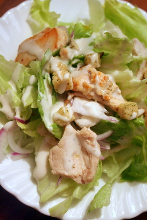 鶏胸肉のシーザーサラダ_f0141419_06260899.jpg
