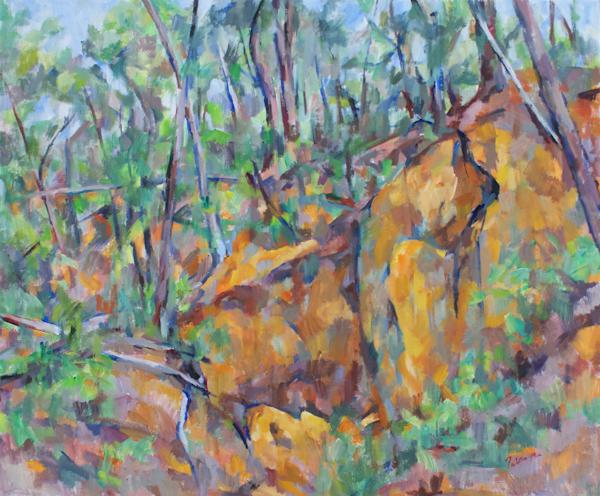黄色い岩(完成)_c0236929_18494488.jpg