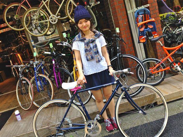 ☆今日のバイシクルガール5本立て☆ 自転車 女子 おしゃれ ミニベロ_b0212032_21212856.jpg