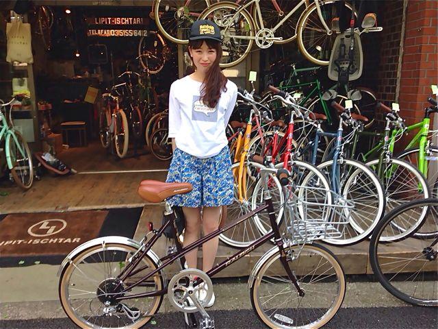 ☆今日のバイシクルガール5本立て☆ 自転車 女子 おしゃれ ミニベロ_b0212032_21213659.jpg