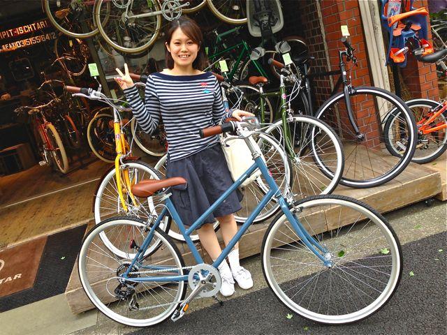☆今日のバイシクルガール5本立て☆ 自転車 女子 おしゃれ ミニベロ_b0212032_21214762.jpg