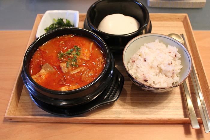 豆腐ご飯でキムチクッパ_a0223786_1117873.jpg
