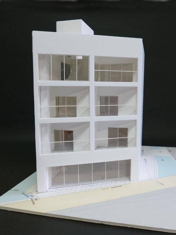 Mビル計画 模型写真_a0147436_18212077.jpg