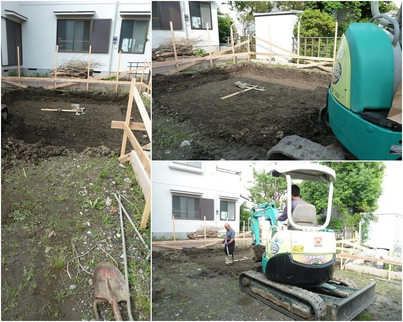 鎌倉の家☆基礎工事がはじまりました_c0152341_11142860.jpg