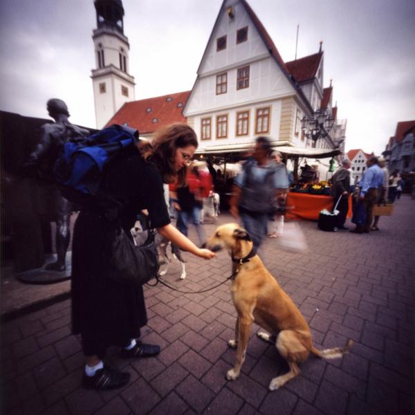 ツェレの旧市街を散歩する犬 ドイツ Pinhole Photography_f0117059_16354810.jpg