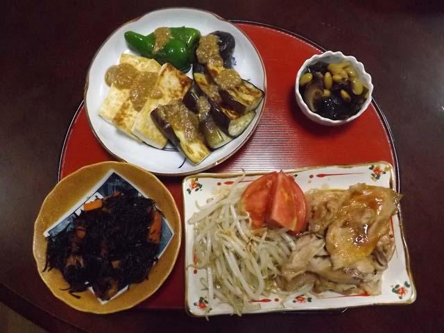 豆腐と野菜のごま味噌かけ_f0019498_1736056.jpg