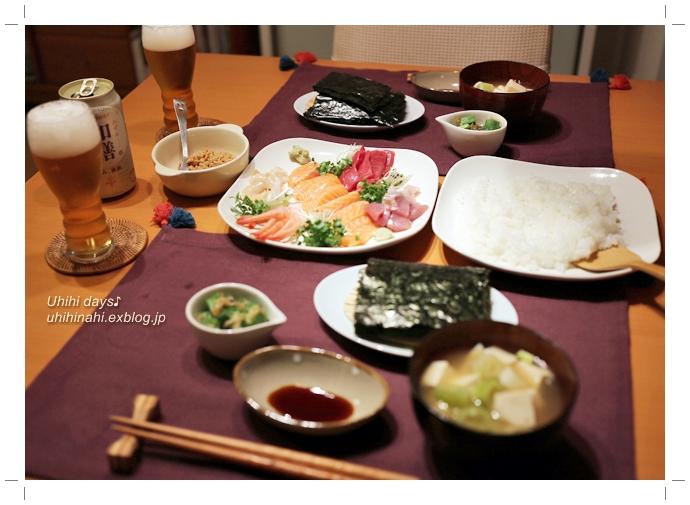 和膳 で 手巻き寿司♪_f0179404_76184.jpg