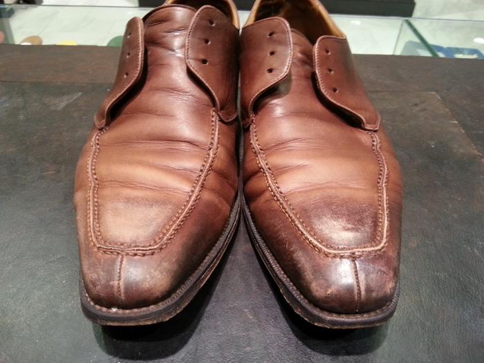 革靴、水洗い後の基本のケア~M.モゥブレイ・クリームで仕上げます~_b0226322_12341262.jpg