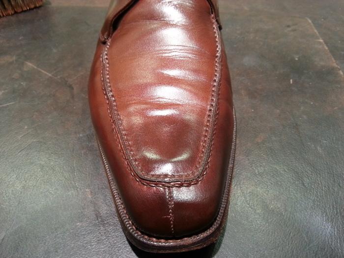 革靴、水洗い後の基本のケア~M.モゥブレイ・クリームで仕上げます~_b0226322_13121661.jpg