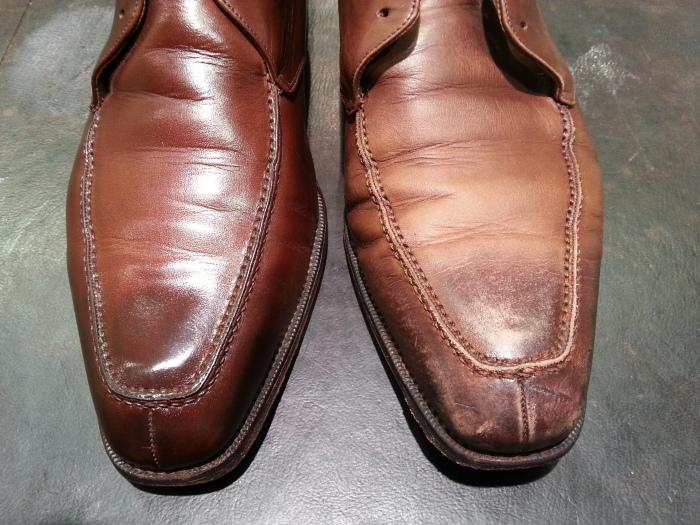 革靴、水洗い後の基本のケア~M.モゥブレイ・クリームで仕上げます~_b0226322_13121768.jpg