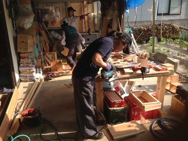 木工女子部  作品作り_f0031037_2031565.jpg