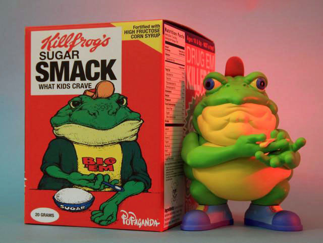 """Drug \'Em Killfrog\"" - The Sugar Smack Bullfrog by Ron English_e0118156_2055439.jpg"