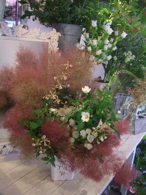 オークリーフ花の教室(赤地さんと宮原さんの作品)_f0049672_1741535.jpg
