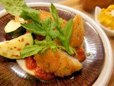 6/17晩ごはん:鶏胸肉のチーズパン粉焼き_a0116684_19034155.jpg