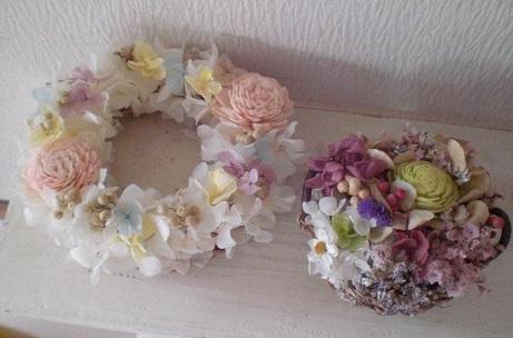 10種のお花のジュート籠アレンジとホワイトリース_c0207719_11433216.jpg