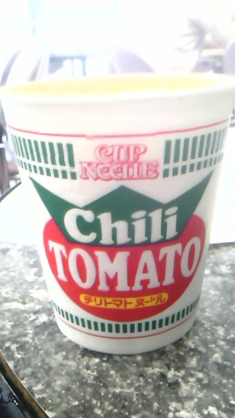 cup noodle チリトマト_f0310731_0324399.jpg