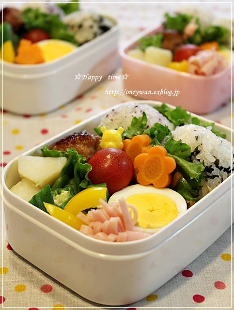豚ひき肉のつくね弁当とピタパン♪_f0348032_19140237.jpg