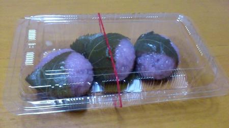 サザエの桜餅_b0106766_23221156.jpg