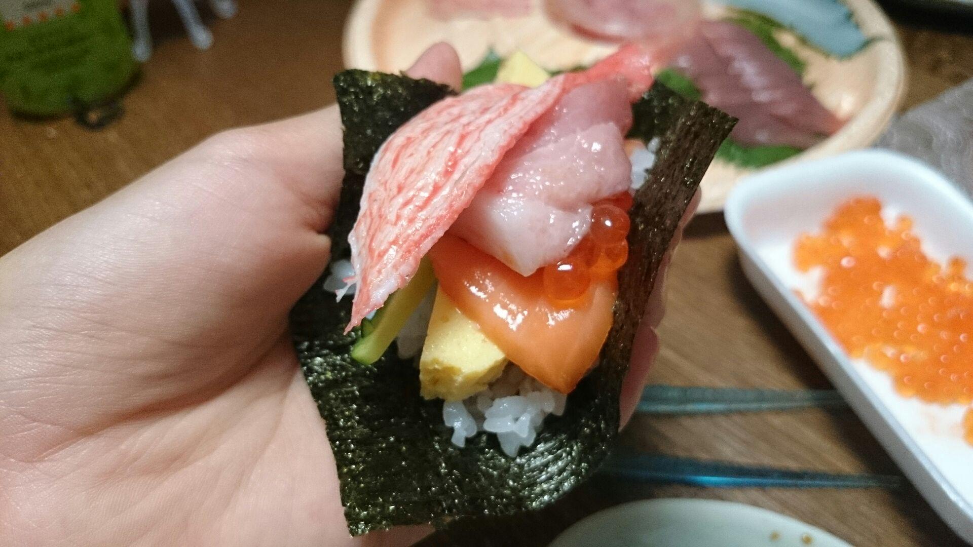 手巻き寿司でおもてなし♪_d0180229_20414753.jpg