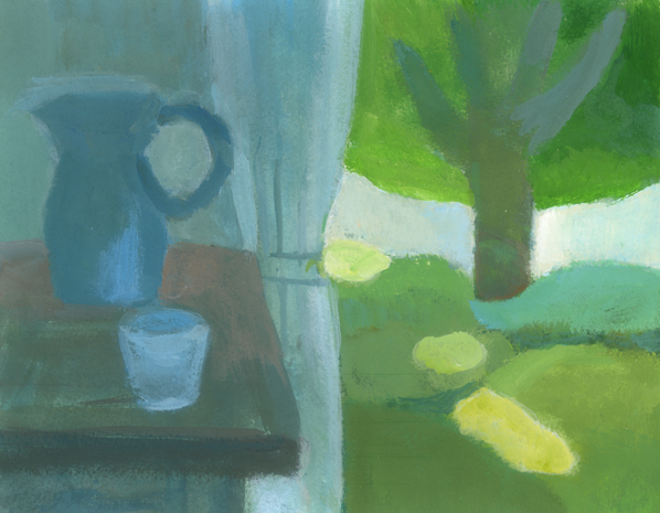 illustration break-庭の陽射し_b0194880_13455492.jpg