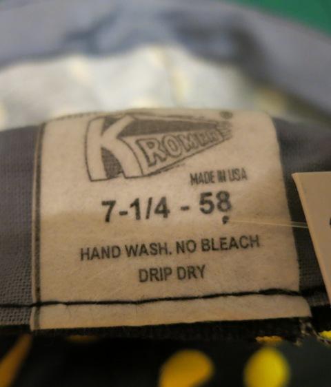 KROMER WORK CAP MADE IN U.S.A 新品_c0144020_15204520.jpg