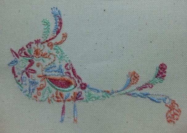 カラフル鳥の試縫い刺繍をしました♪_c0316026_19383214.jpg