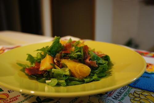 ルッコラとオレンジのサラダ ハニーマスタードドレッシング (レシピ)_f0215714_16363796.jpg