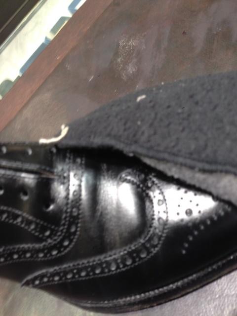 黒靴に青のクリーム(実験)_b0226322_18112147.jpg