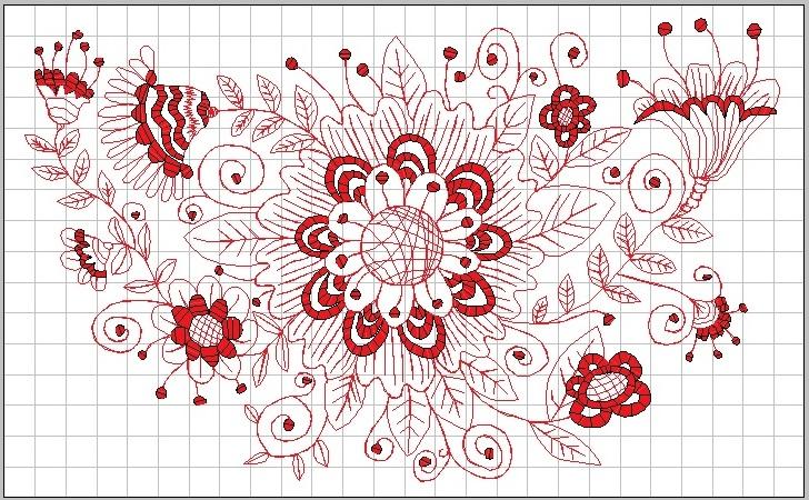 コミカル花束の刺繍データ作りました♪_c0316026_16201999.jpg