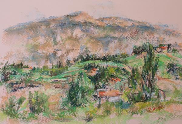 夏のヴァントゥー山(完成)_c0236929_21314820.jpg