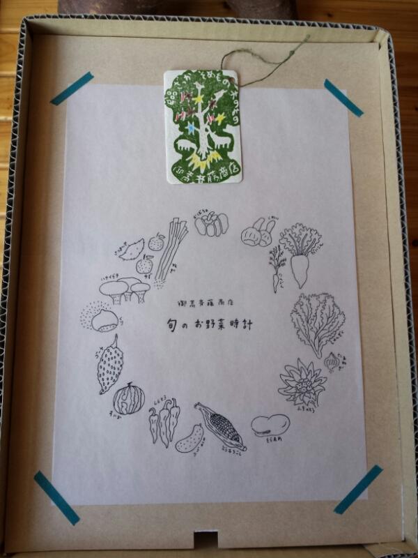 旬の野菜時計は嫁にゆきました_e0155231_20541673.jpg