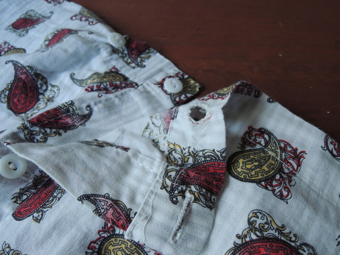 60S~ PAJAMA SET-UP STRIPE PAISLEY--RECOMMEND--_c0176867_18335042.jpg