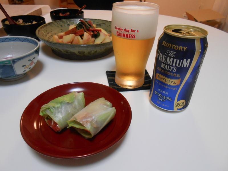 ベトナム春巻きでビール。_a0095931_1903454.jpg