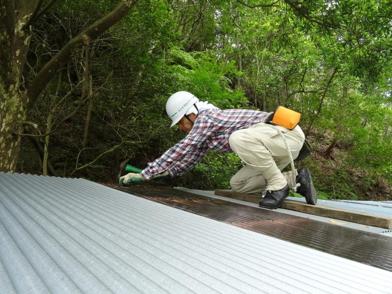 パイプハウス増設の屋根張り完了 in 孝子の森     by     (TATE-misaki)_c0108460_21371112.jpg