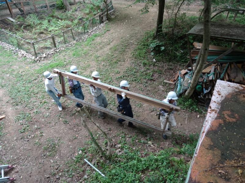 パイプハウス増設の屋根張り完了 in 孝子の森     by     (TATE-misaki)_c0108460_21433950.jpg