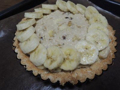 バナナタルトと豆乳プリンを作りました_b0252363_22124546.jpg