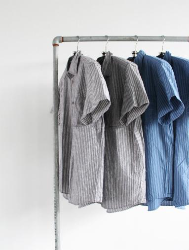 Raie  SHIRT S/S - cotton stripe_b0139281_14423046.jpg