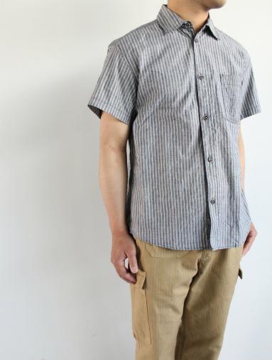 Raie  SHIRT S/S - cotton stripe_b0139281_14425799.jpg