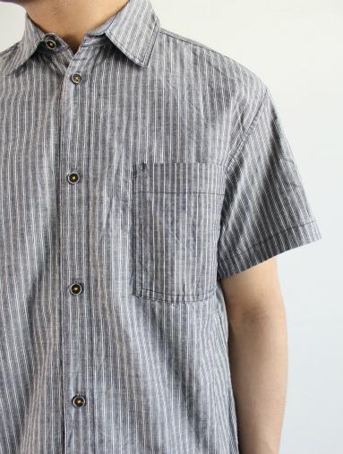 Raie  SHIRT S/S - cotton stripe_b0139281_14435175.jpg