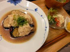 6/27晩ごはん:鶏団子と揚茄子の田舎煮_a0116684_19035020.jpg