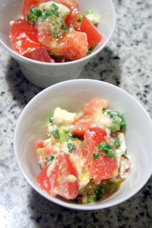 ダイエットに!! トマトのポン酢カッテージマリネ♪_f0141419_08541116.jpg