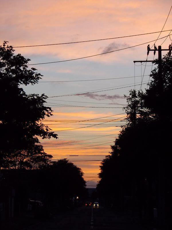 久々に自宅から見た夕焼け_c0025115_21373733.jpg