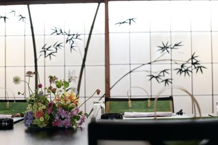 初夏の装花 浅草茶寮一松様へ 風が通るように_a0042928_1945844.jpg